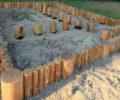 Столбчатый фундамент из дерева своими руками