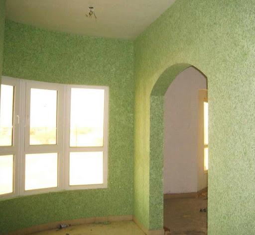 Комната в зелёных тонах
