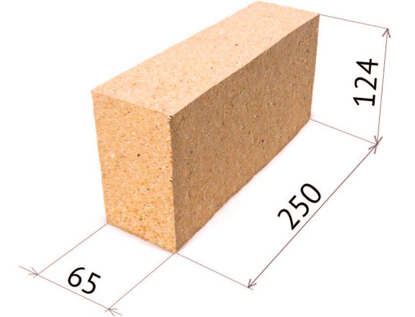 Размер шамотного кирпича